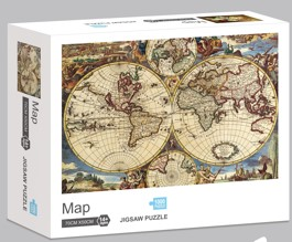 Rompecabezas Ni Hao 1000 Piezas Mapa Antiguo