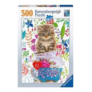 Rompecabezas ravensburger gato en un copa 500 piezas