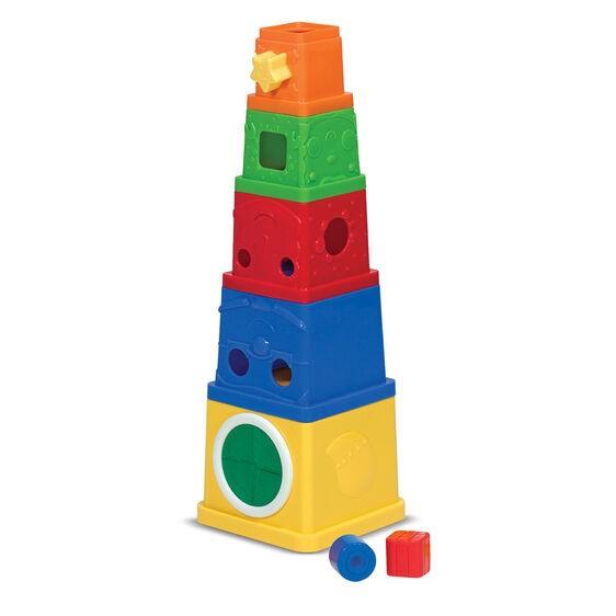 bloques apilados juguete aprendizaje
