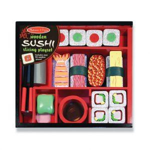 juego de sushi para cortar de madera melissa and doug