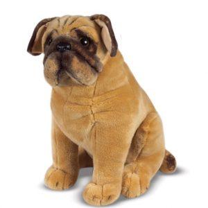perro perrito pug de peluche melissa and doug