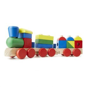 tren de madera para apilar juguete