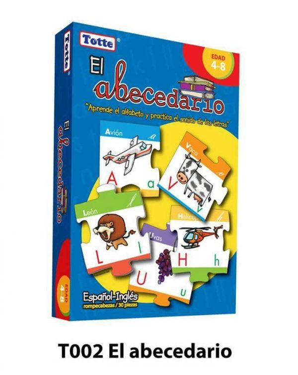 abecedario material didactico juego educativo totte